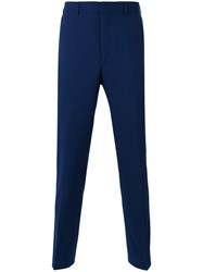 A Kind Of Guise Tailored Trousers Men Viscose Virgin Wool 50 Blue