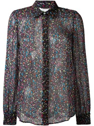 Diane Von Furstenberg Tweed Print Shirt Black