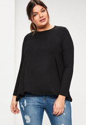 Missguided Plus Size Black Long Sleeve Swing Top