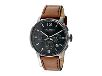 Coach Bleecker Chrono Leather Dark Grey Sandblast Watches Brown