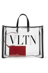 Valentino Garavani Grande Plage Large Leather Trimmed Printed Pvc Tote Clear