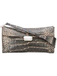 Giorgio Armani Vintage Embossed Effect Clutch Bag Black