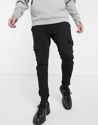 New Look Utility Jersey Jogger In Black