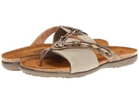 Naot Footwear Jennifer Brass Leather Taupe Stretch Women's Sandals