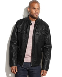 Tommy Hilfiger Faux Leather Moto Jacket Black