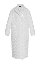 Ellery Animation Quilted Cocoon Coat White