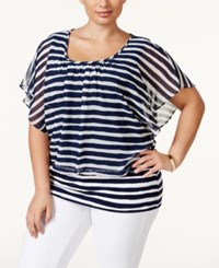 Styleandco. Style And Co. Plus Size Striped Dolman Sleeve Banded Hem Top Only At Macy's