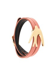Mcq By Alexander Mcqueen Bird Wrap Bracelet Red