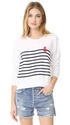 Sundry Stripes Anchor Tee White