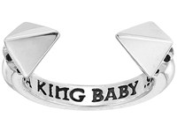 King Baby Studio Open Ring W Pyramids Silver Ring