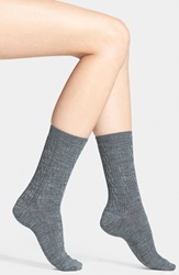 Smartwool 'Cable Ii' Crew Socks Medium Gray