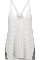 Helmut Lang Ribbed Cotton Tank White