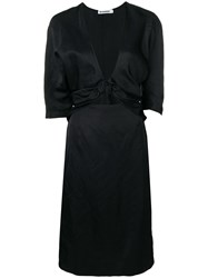 Jil Sander Front Knot Pencil Dress Black