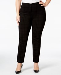 Alfani Plus Size Flocked Hollywood Skinny Pants Only At Macy's Organic Grid