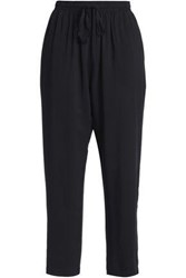 Oak Woven Straight Leg Pants Black