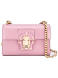 Dolce And Gabbana Lucia Crossbody Bag Pink Purple
