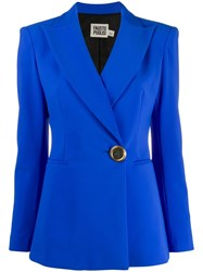 Fausto Puglisi Fitted Logo Button Blazer 60