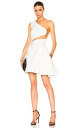 Zuhair Murad Cady Stretch Tulle Mini Dress In Neutral White Neutral White