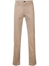 Massimo Alba Classic Slim Fit Chinos Nude And Neutrals