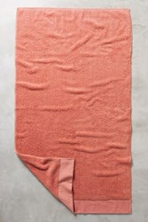 Anthropologie Linen Bordered Westchester Towel Collection Paprika