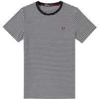 Fred Perry Fine Stripe Tee Blue
