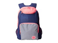 Roxy Shadow Swell Color Block Backpack Neon Grapefruit Backpack Bags Pink