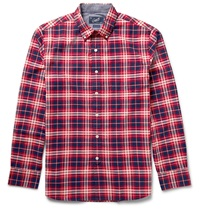 Grayers Checked Cotton Shirt Red