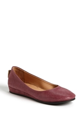 French Sole 'Zeppa' Wedge Burgundy Twist
