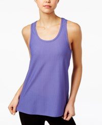 Jessica Simpson The Warm Up Juniors' Mesh Tank Top Only At Macy's Pure Periwinkle