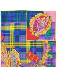 Versace Vintage The Clans Printed Scarf Multicolour