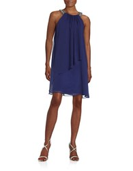 Vince Camuto Embellished Halter Dress Indigo