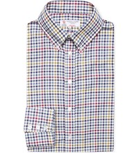 Turnbull And Asser Informalist Fit Gingham Cotton Shirt Navy Multi