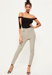 Missguided Grey Corduroy Treggings