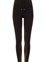 Elle Sport Sleek Print Panel Performance Tight Black