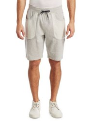 Madison Supply Two Tone Sweat Shorts Light Heather Grey Navy