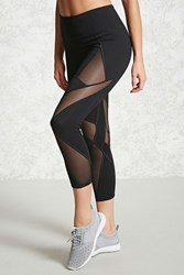 Forever 21 Active Geo Mesh Leggings Black