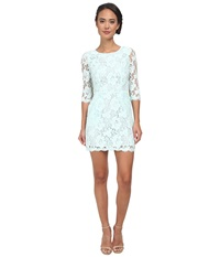 Alejandra Sky Wendi 3 4 Sleeve Lace Dress Sea Mist Women's Dress Green