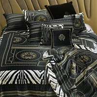 Roberto Cavalli Glamour Duvet Set Black Super King