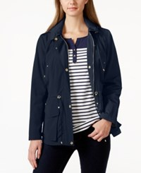 Charter Club Petite Long Sleeve Hooded Anorak Jacket Only At Macy's