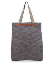 Mismo M S Flair Canvas Tote Blue Multi
