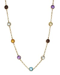 Bloomingdale's Multi Gemstone Station Necklace In 14K Yellow Gold 17 Multi Gold