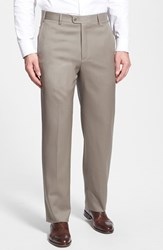 Men's Zanella 'Todd' Flat Front Trousers Medium Beige