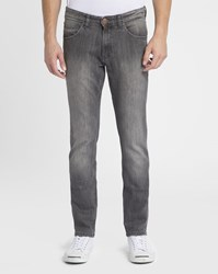 Wrangler Grey Bostin Straight Slim Jeans