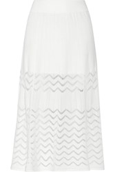 A.L.C. Snyder Stretch Knit Midi Skirt White