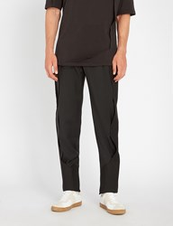 Chalayan Seam Detail Tapered Woven Trousers Black