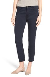 Jen7 Women's Colored Stretch Ankle Skinny Jeans Midnight Navy