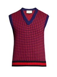 Gucci Wool And Cashmere Blend Sleeveless Knitted Top Multi