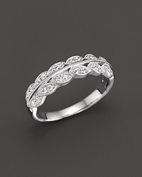 Bloomingdale's Diamond Vintage Inspired Band Ring In 14K White Gold .25 Ct. T.W.