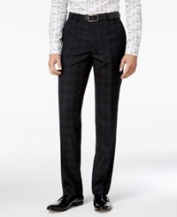 Bar Iii Men's Slim Fit Blackwatch Plaid Tuxedo Pants Only At Macy's