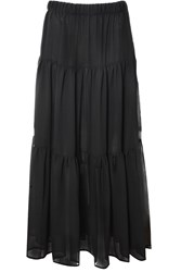Alice And You Printed Maxi Skirt Black
